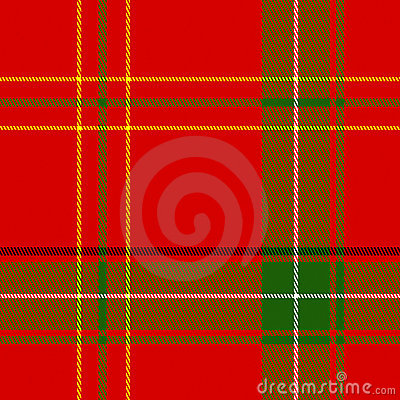 Vector Seamless Christmas Plaid