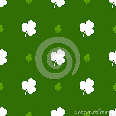 Vector seamless clover pattern. Vector Illustration