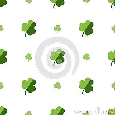 Vector seamless clover pattern. Vector Illustration