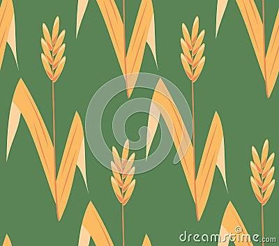 Vector seamless ear field background