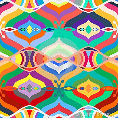 Vector seamless ethnic pattern stock vector image 50861791 for Bright vibrant colors