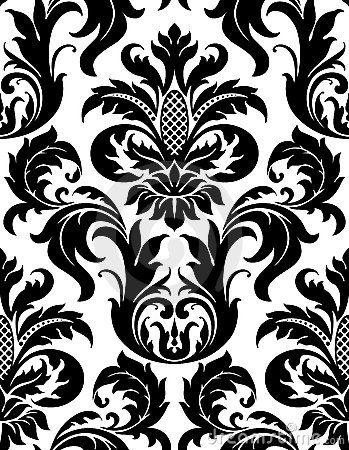 Free Vector Seamless Floral Damask Pattern Royalty Free Stock Photo - 21470155