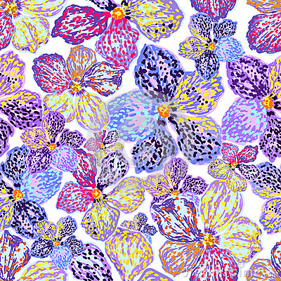Free Vector Seamless Floral Pattern Stock Images - 72612954