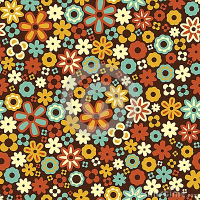 Free Vector Seamless Flower Pattern Background Royalty Free Stock Photos - 29329478