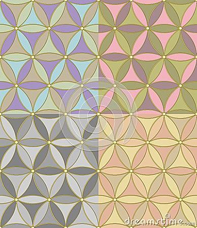 vector Seamless geometric pattern of hexagons