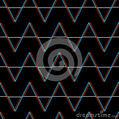 Free Vector Seamless Glitch Pattern . Color On Black Background. Triangle Element. Digital Pixel Noise Abstract Design Royalty Free Stock Images - 122644139