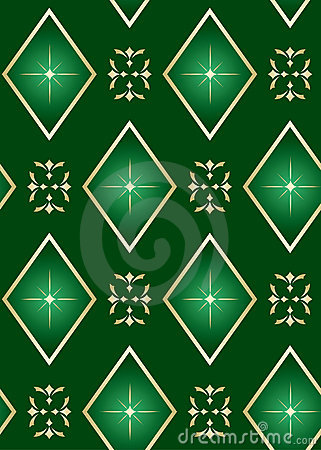 vector seamless green texture with rhombuses
