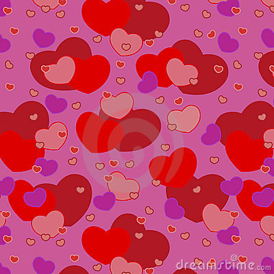Vector seamless hearts for Valentine s day patter