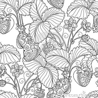 Free Vector Seamless Monochrome Fruit Pattern Stock Photo - 56480790