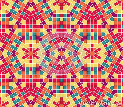Vector seamless mosaic ornaments