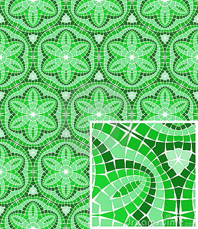 Vector seamless mosaic ornaments