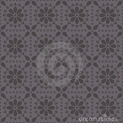 Vector seamless pattern with abstract rosettes