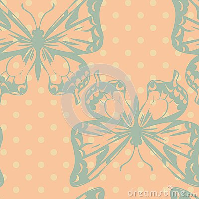 Vector seamless pattern of butterflies