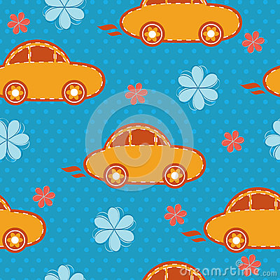 Vector seamless pattern of cars