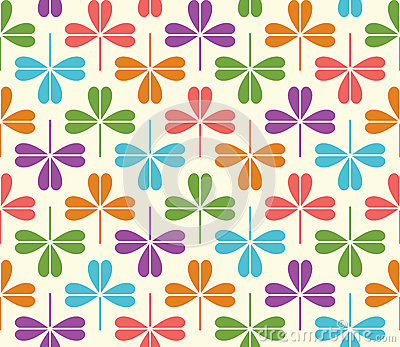 Vector seamless Pattern with colorful clover Vector Illustration