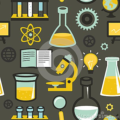 Vector seamless pattern - education and science