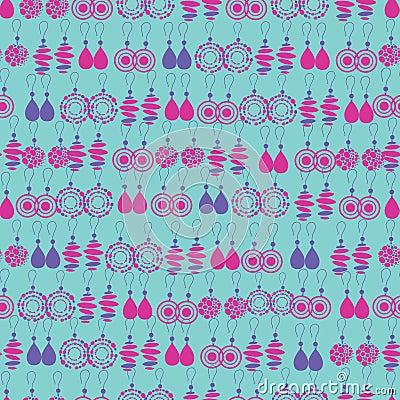 Vector seamless pattern of fashion jewelry