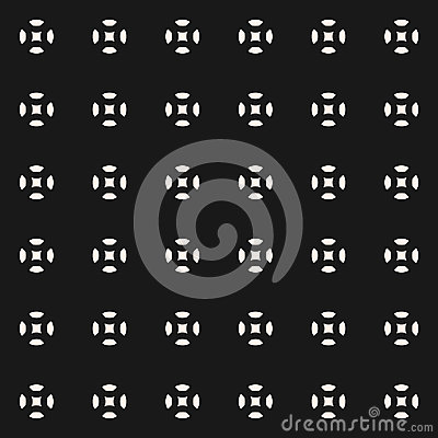 Free Vector Seamless Pattern, Geometric Figures, Circles, Squares, Sp Stock Image - 99157881