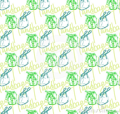Vector seamless pattern of handbags