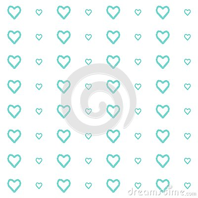Vector seamless pattern of hearts, simple and clean Vector Illustration