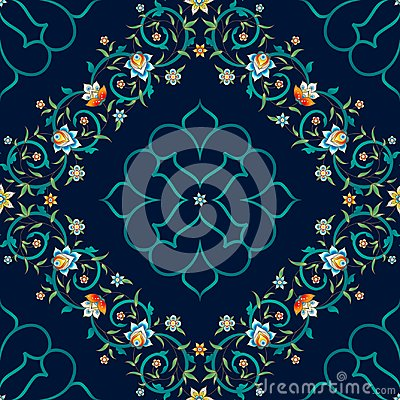 Free Vector Seamless Pattern In Eastern Style. Royalty Free Stock Photos - 110264948