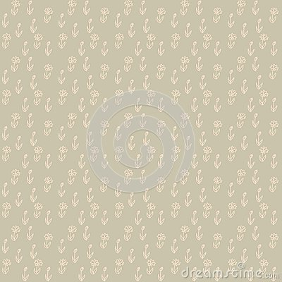 Free Vector Seamless Pattern, Little Beige Flowers Royalty Free Stock Photo - 28507085