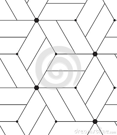 Free Vector Seamless Pattern. Modern Line Geometric Background Stock Photo - 63440810