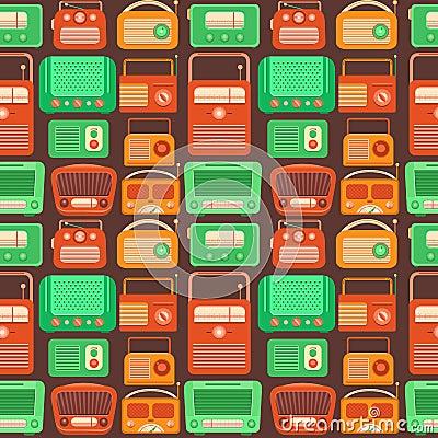 Vector seamless pattern nostalgia. Stock Photo
