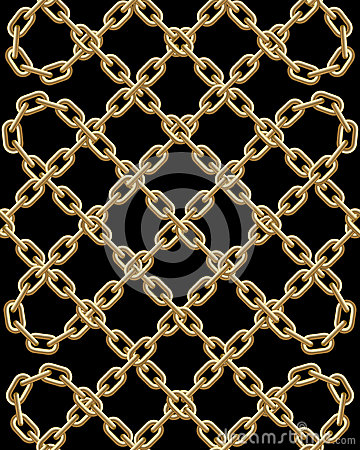 Free Vector Seamless Pattern Of Golden Chains Stock Photo - 76985130