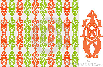 Vector seamless pattern - old