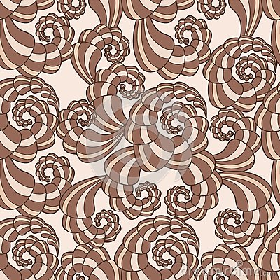 Vector seamless pattern with spirals