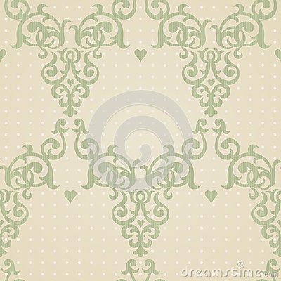 Vector seamless pattern in Victorian style. Element for design. Vector Illustration