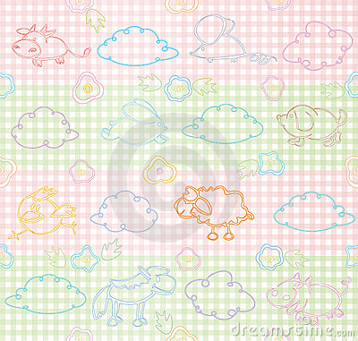 Vector seamless pattern for your design.