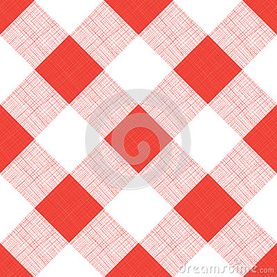 Free Vector Seamless Picnic Tablecloth Pattern Stock Photos - 27692543