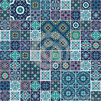 Free Vector Seamless Texture. Beautiful Mega Patchwork Pattern For Design And Fashion With Decorative Elements Stock Image - 74002901