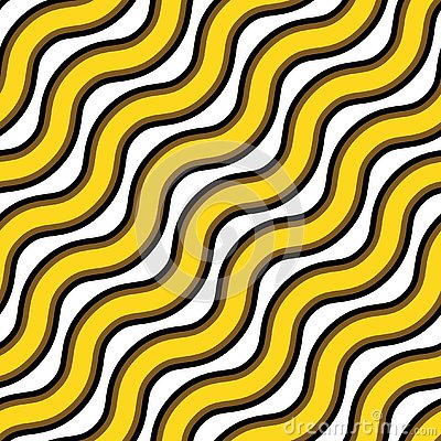 Vector seamless texture. Repeating pattern of wavy gold and black lines Vector Illustration