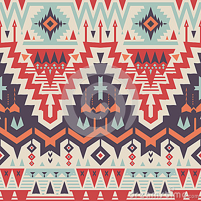 Free Vector Seamless Tribal Pattern Stock Images - 49816654