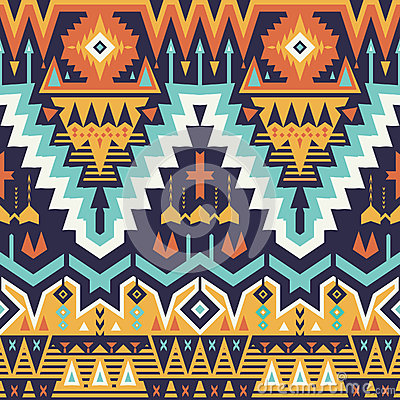 Free Vector Seamless Tribal Pattern Royalty Free Stock Photos - 57208178