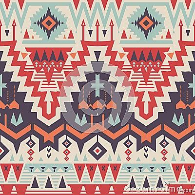 Vector Seamless Tribal Pattern Stock Vector - Image: 49816654