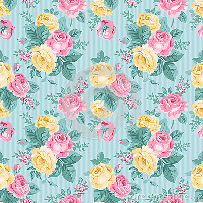 Free Vector Seamless Vintage Floral Pattern. Stock Photo - 38994000