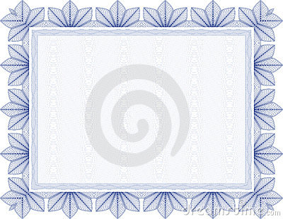 Vector  Secure blank guilloche certificate