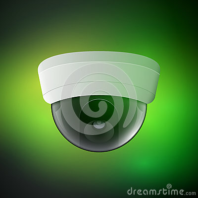 Free Vector Security Camera Illustration. Safety Control Equipment. Ceiling Camera Protection Technology. CCTV View Video Stock Photos - 92751133