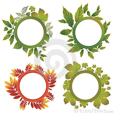 Vector set of autumn leafs