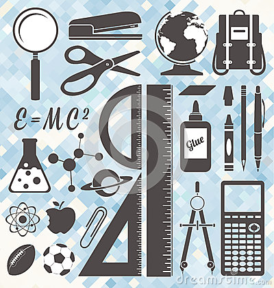 Free Vector Set: Back To School Labels And Icons Royalty Free Stock Image - 34712966