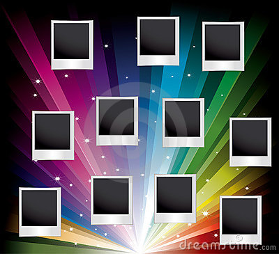 Vector set of blank printed photos
