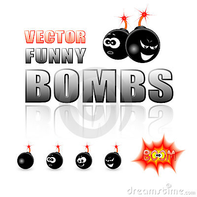 Vector set of cartoon bombs