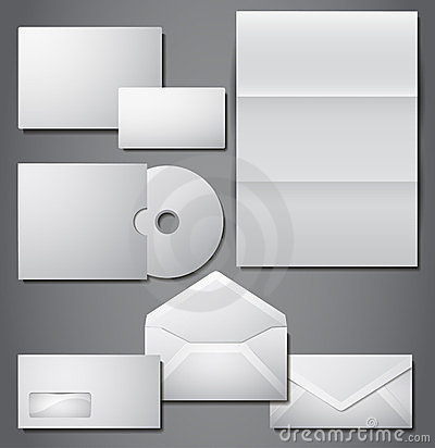 Vector set of corporate identity