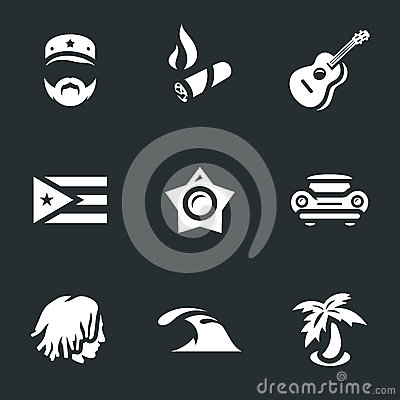 Vector Set of Cuba Icons. Vector Illustration