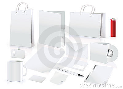 Vector set of design elements for corporate identi