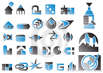 Vector set of design symbols